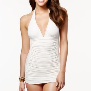 Coco RAVE Halter Ruched Bodice Kendall Swim Dress